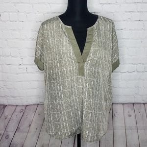 Cato Satin Beaded Embroidered Top blouse Size XL